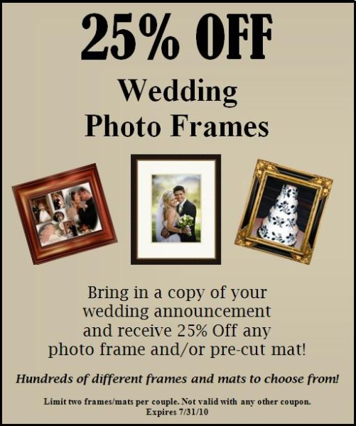NW Art & Frame Wedding Photo Promotion - West Seattle Junction ...