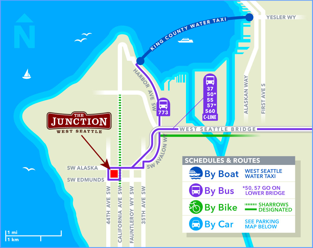 Maps - West Seattle Junction, getting here and free parking