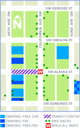 West Seattle Junction Parking Lot Map