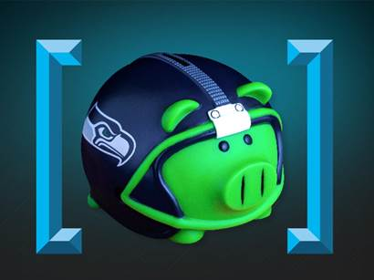 Seahawks Piggy Bank