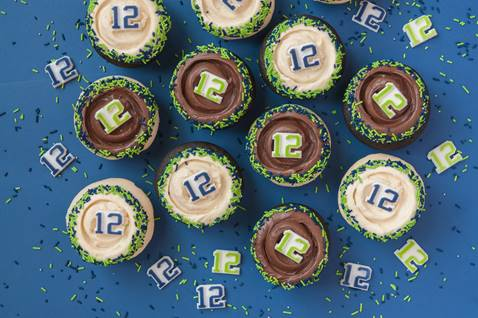 Seahawk Cupcakes