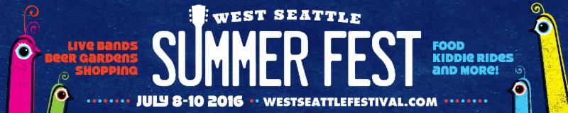 West Seattle Summer Fest 2016 Community Tent