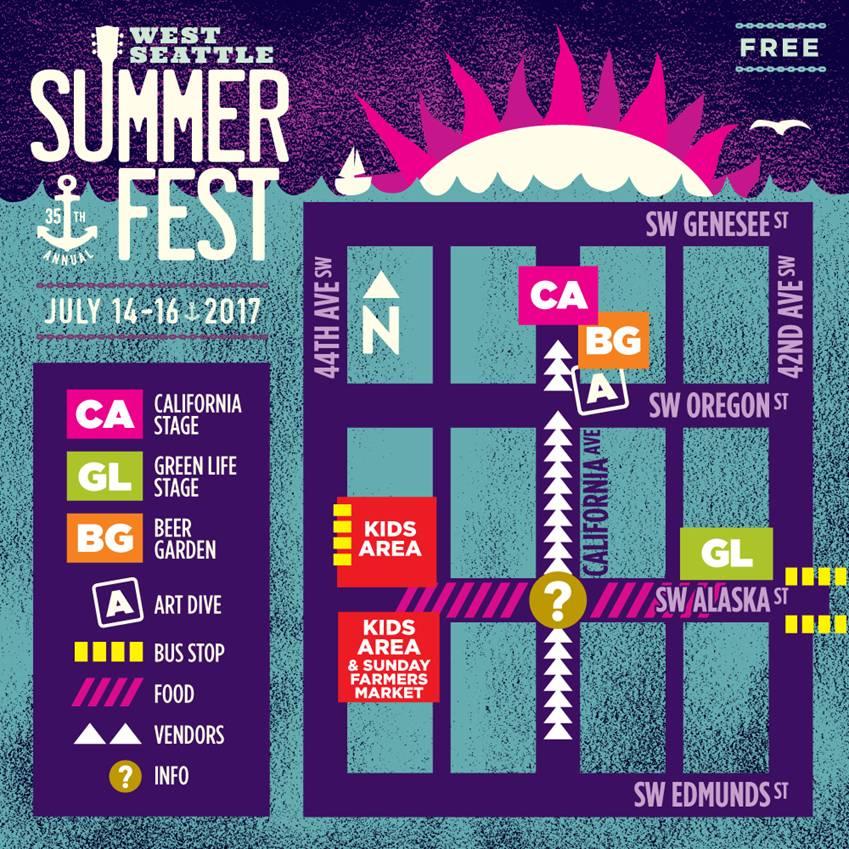 Summer Fest Map 2017