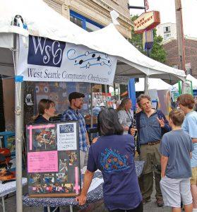 Summer Fest Community Partnership Tent