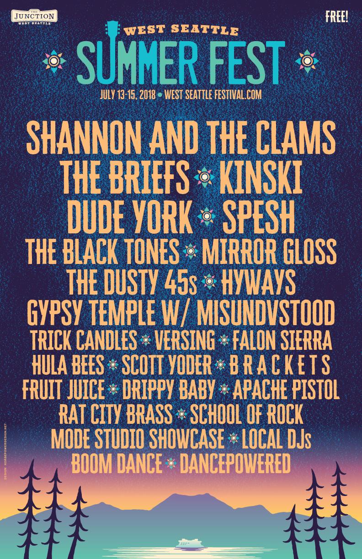 Summer Fest Band Poster