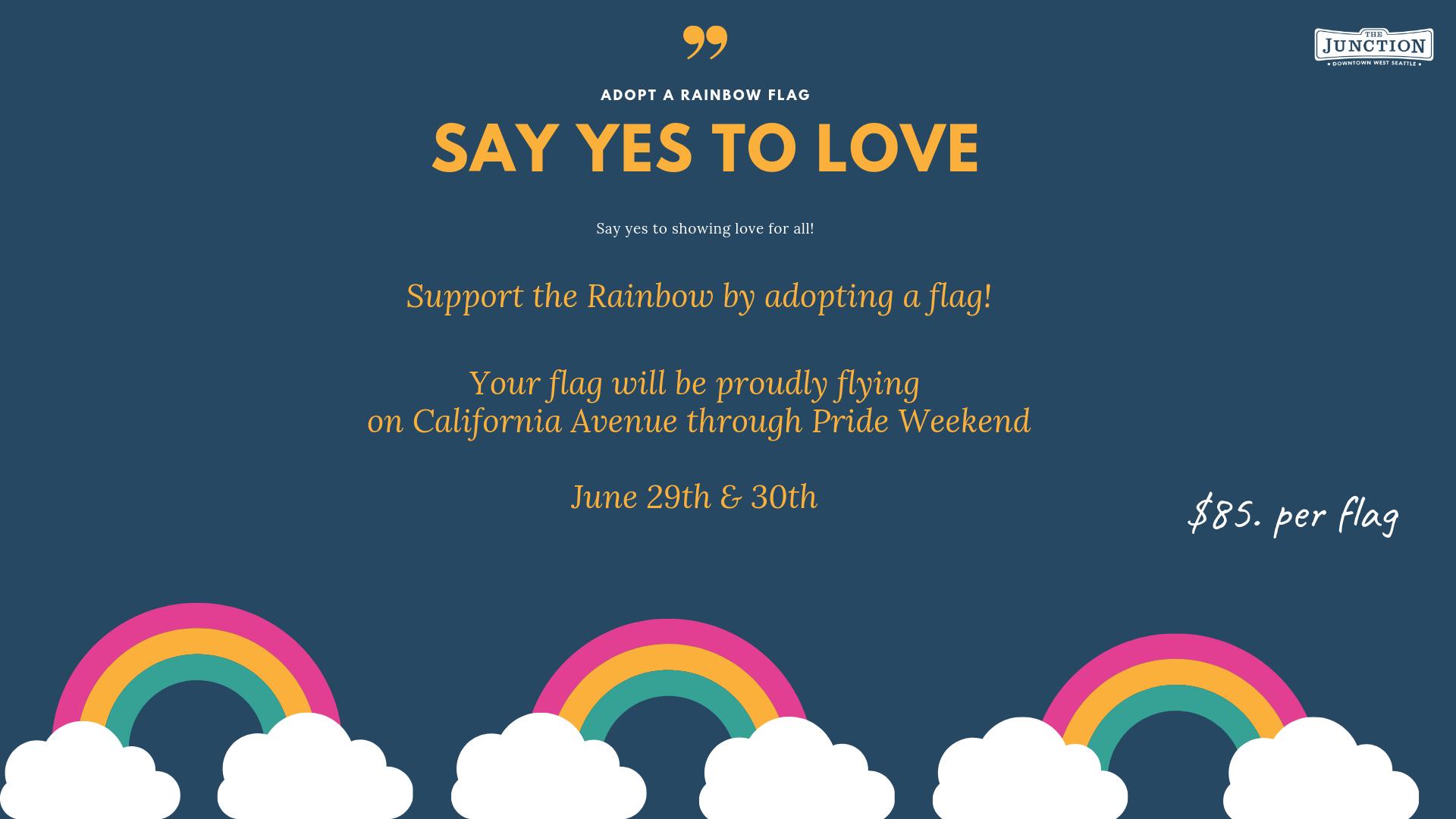Adopt a Rainbow Flag
