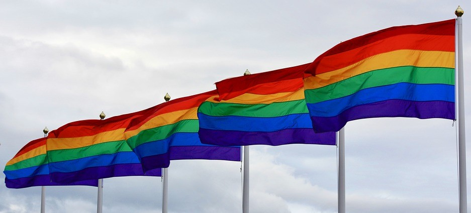 West Seattle Junction Adopt a Rainbow Flag